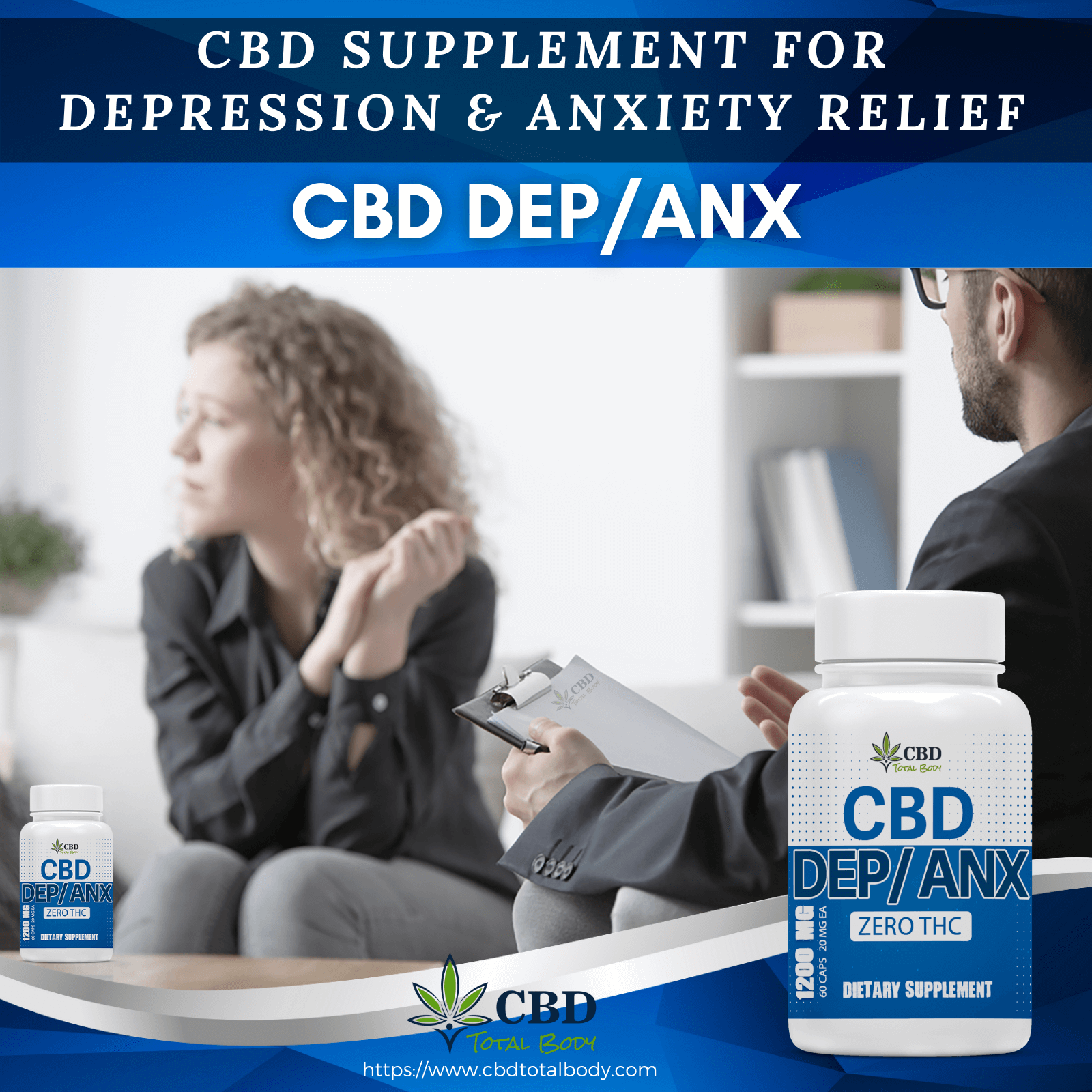 CBD Total Body CBD Dep Anx Infographics