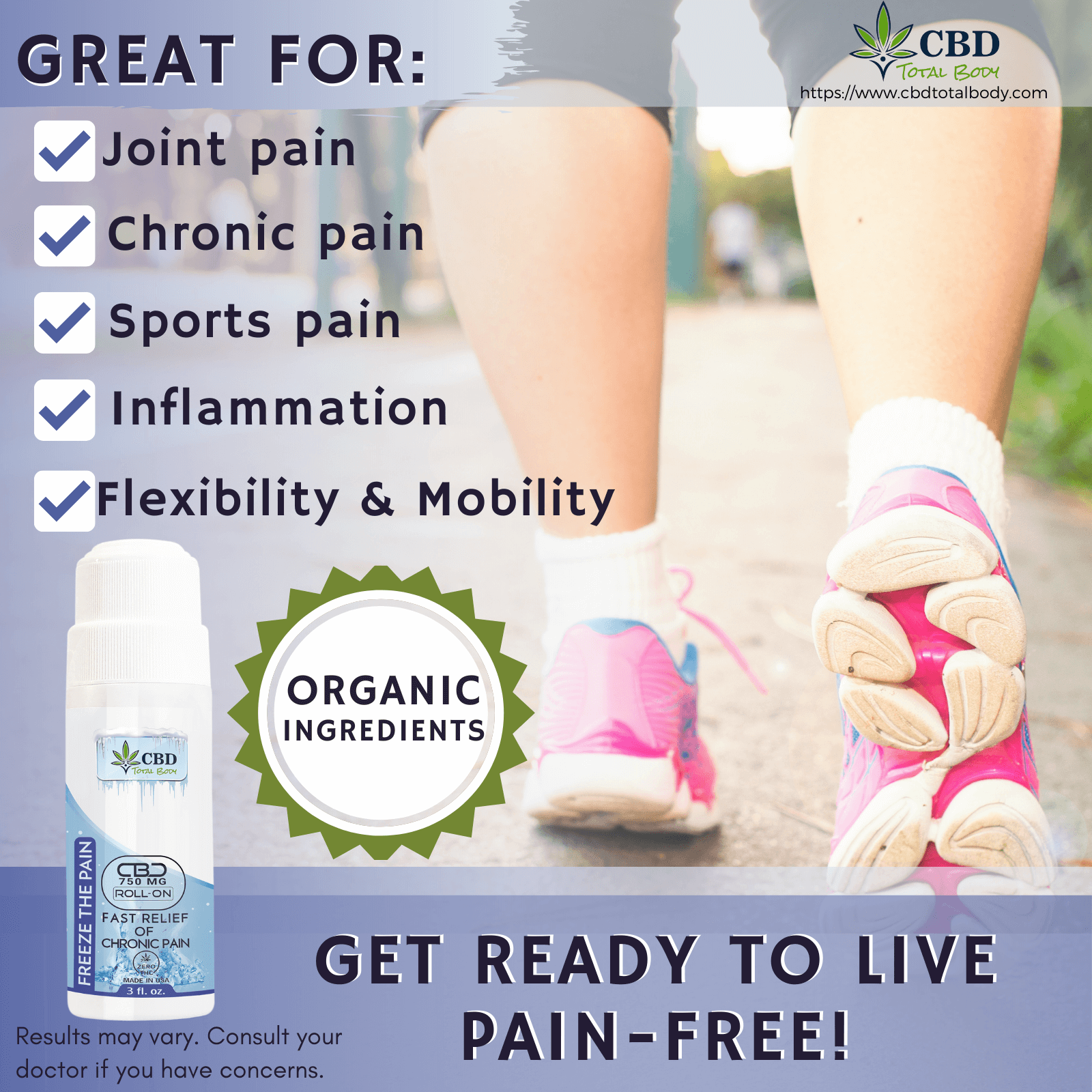 CBD Total Body CBD Freeze the Pain Infographics