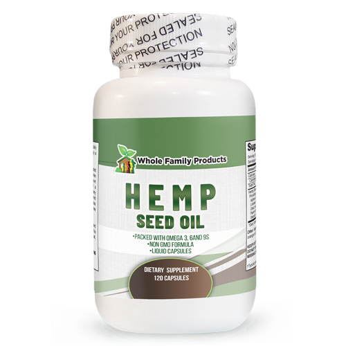 Hemp Seed Oil 120 ct