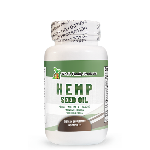 Hemp Seed Oil 60 ct